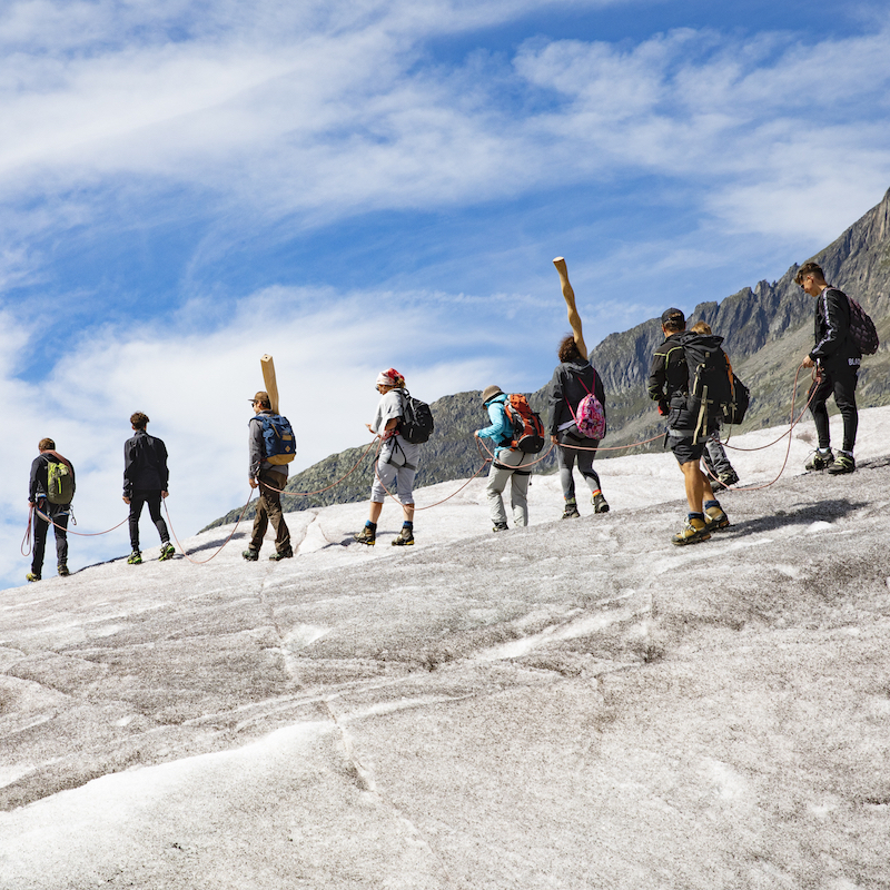 Jugend auf dem Gletscher